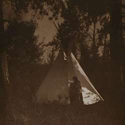 Camp in the forest (Kutenai) (1910)