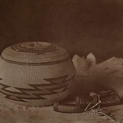 Hupa basket and purses (1923)
