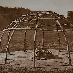 Frame of Peyote sweat-lodge  (1927)