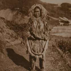 Girl's costume, Nunivak (1928)