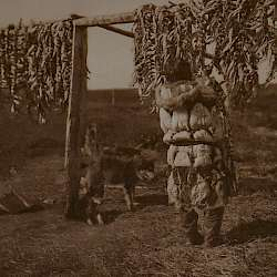 Herring racks, Nunivak  (1928)