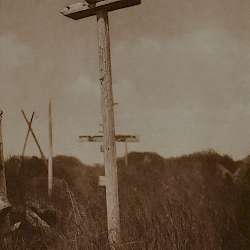A grave-post, Hooker Bay (1928)